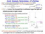 axial anomaly determines 0 lifetime