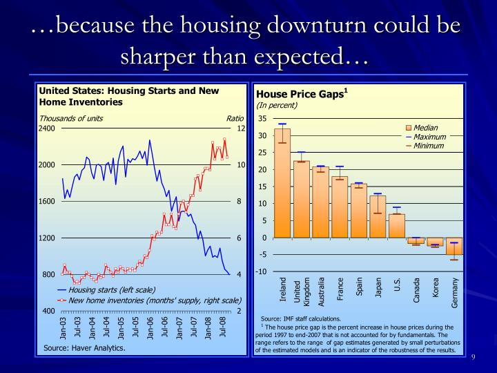 …because the housing downturn could be sharper than expected…