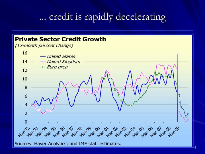 ... credit is rapidly decelerating