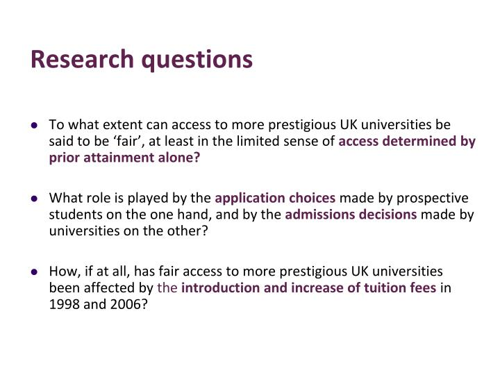 To what extent can access to more prestigious UK universities be said to be 'fair', at least in the limited sense of