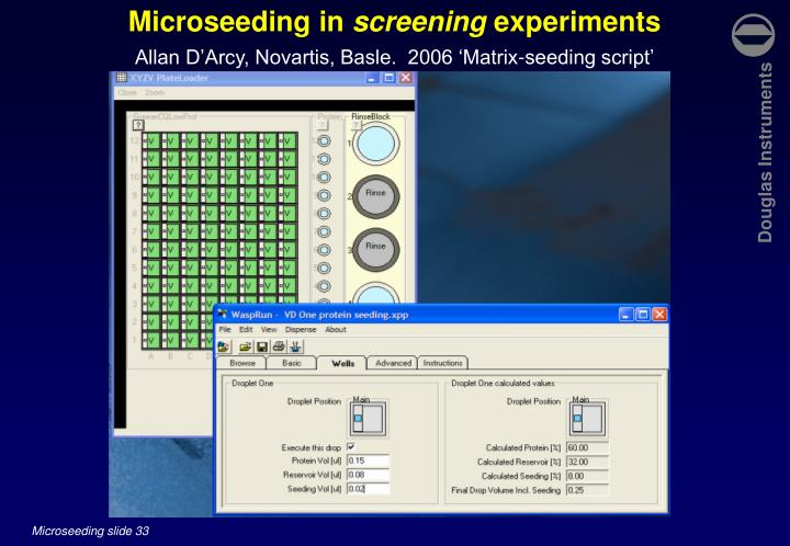 Microseeding