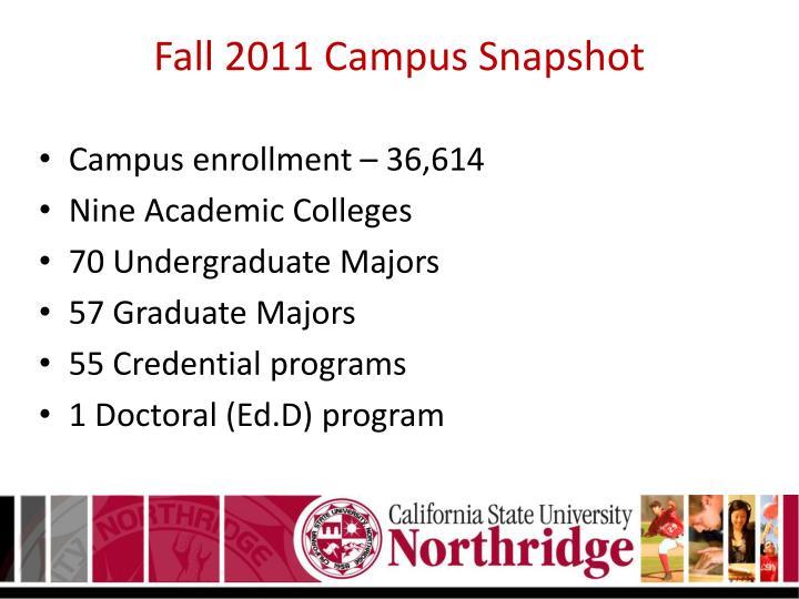Fall 2011 Campus Snapshot