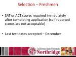 selection freshmen1