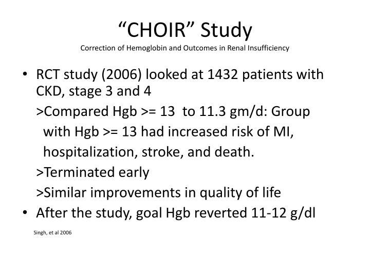 """""""CHOIR"""" Study"""