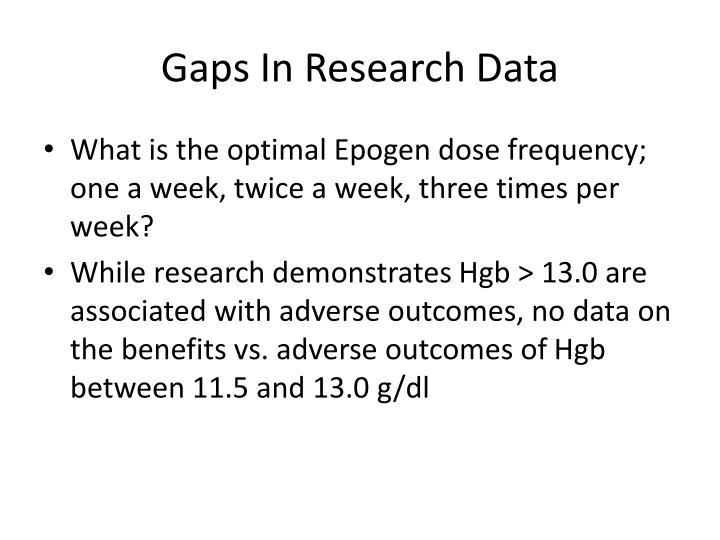 Gaps In Research Data