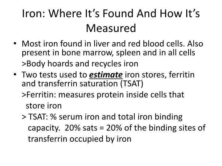 Iron: Where It's Found And How It's Measured