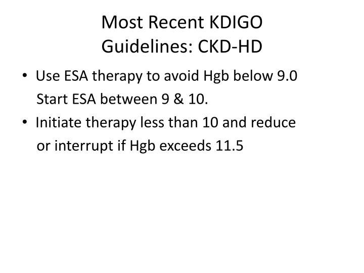 Most Recent KDIGO