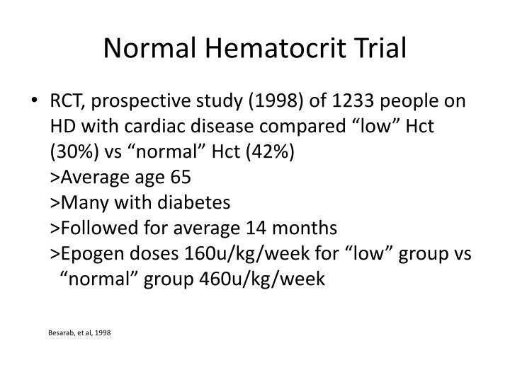 Normal Hematocrit Trial