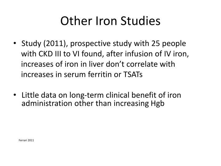 Other Iron Studies