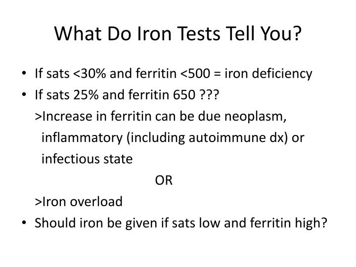 What Do Iron Tests Tell You?