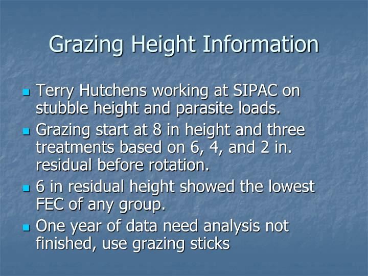 Grazing height information