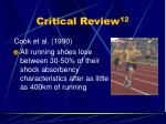 critical review 12
