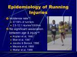 epidemiology of running injuries