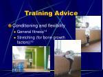 training advice1