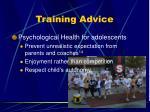 training advice3