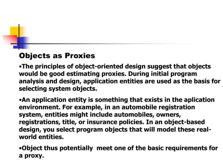 Objects as Proxies