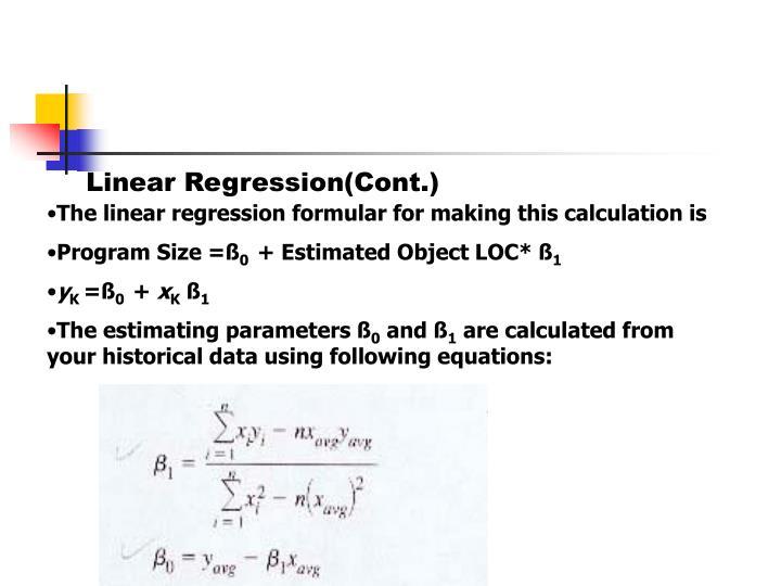 Linear Regression(Cont.)