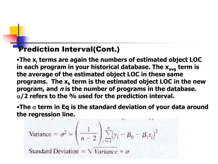 Prediction Interval(Cont.)