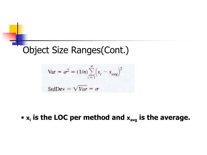 Object Size Ranges(Cont.)