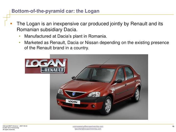 Bottom-of-the-pyramid car: the Logan