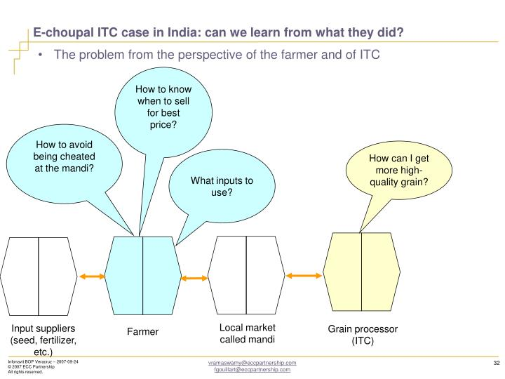 E-choupal ITC case in India: can we learn from what they did?