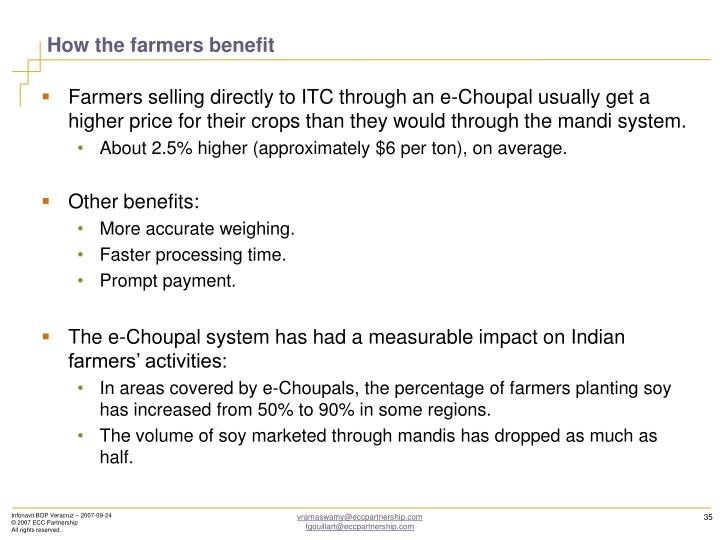 How the farmers benefit