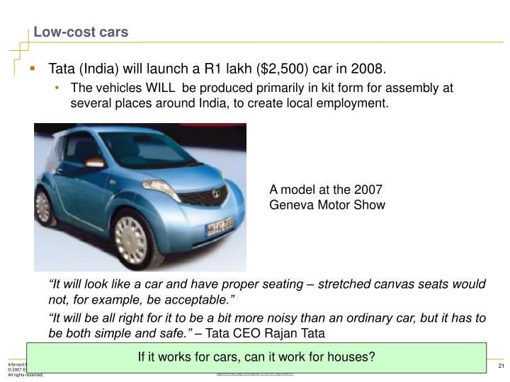 Low-cost cars