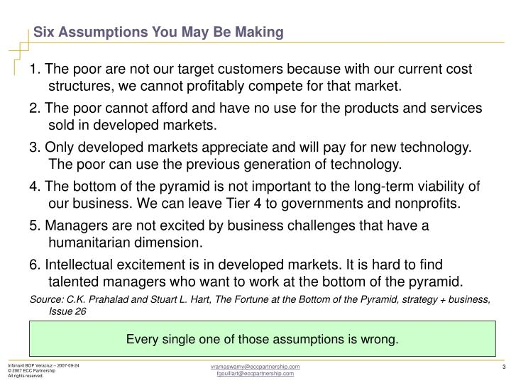 Six Assumptions You May Be Making