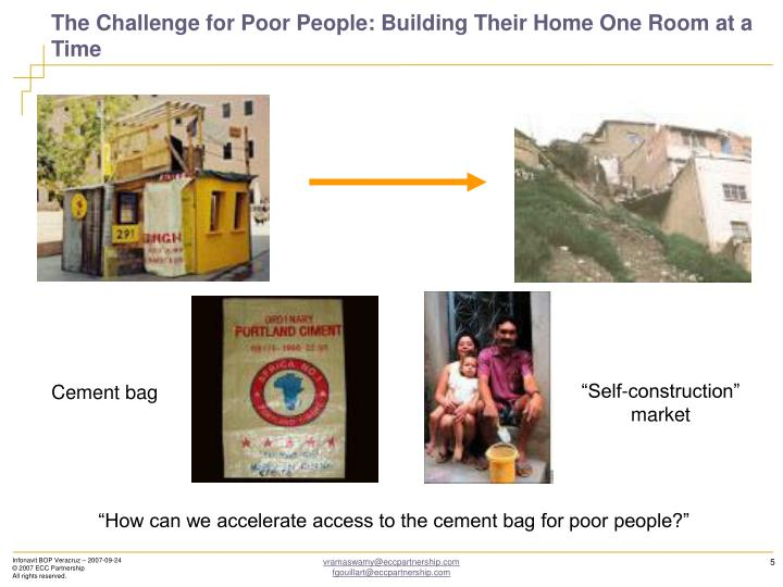 The Challenge for Poor People: Building Their Home One Room at a Time