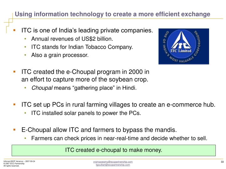 Using information technology to create a more efficient exchange