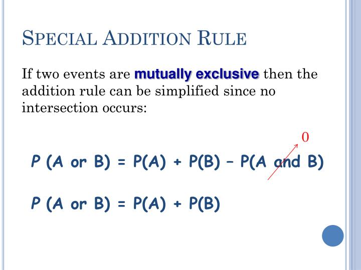 Special Addition Rule