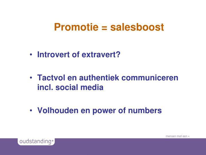 Promotie = salesboost