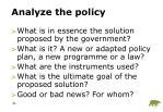 analyze the policy
