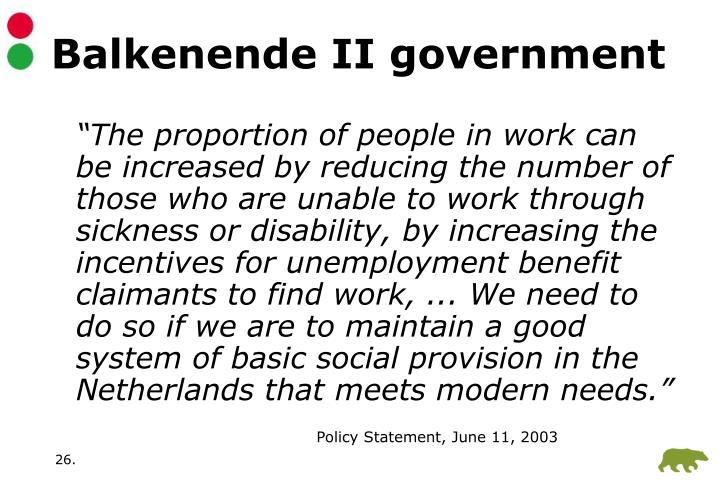 Balkenende II government
