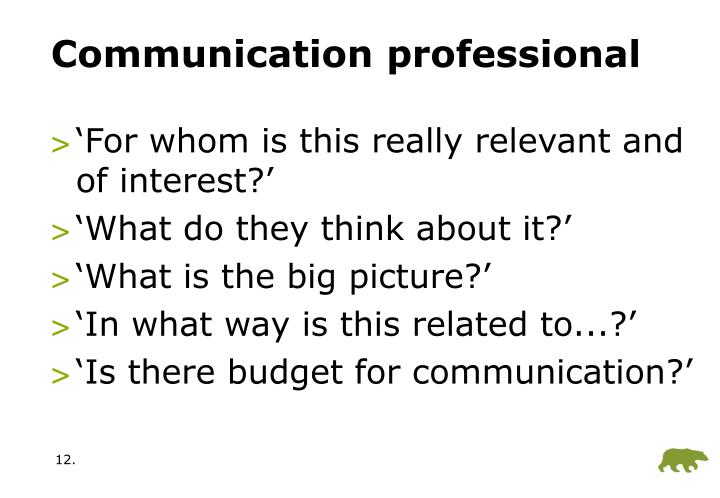 Communication professional