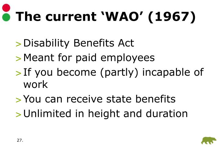 The current 'WAO' (1967)