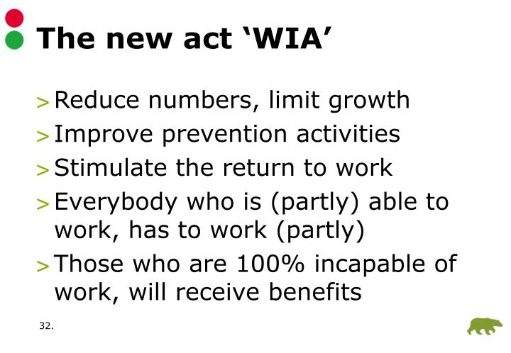The new act 'WIA'