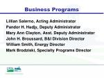business programs