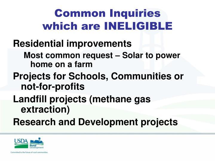 Common Inquiries