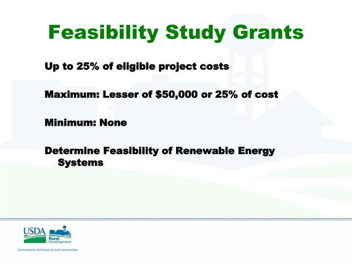 Feasibility Study Grants