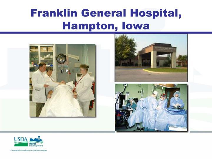 Franklin General Hospital, Hampton, Iowa