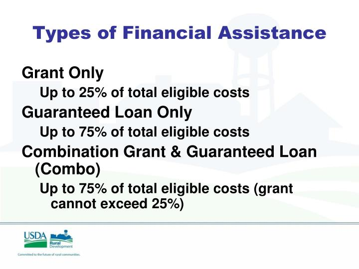 Types of Financial Assistance