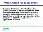 value added producer grant