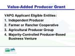 value added producer grant1