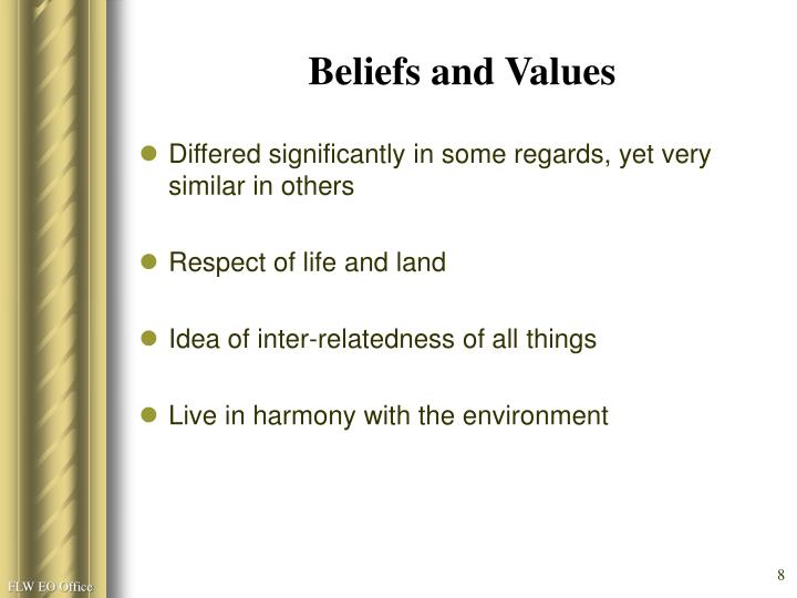 Beliefs and Values
