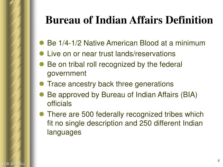 Bureau of Indian Affairs Definition