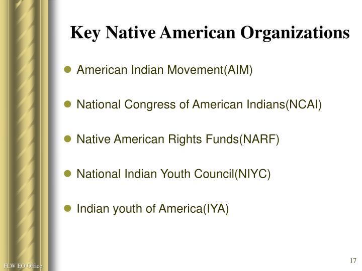 Key Native American Organizations