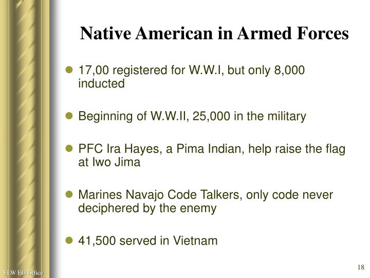 Native American in Armed Forces