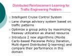 distributed reinforcement learning for traffic engineering problem