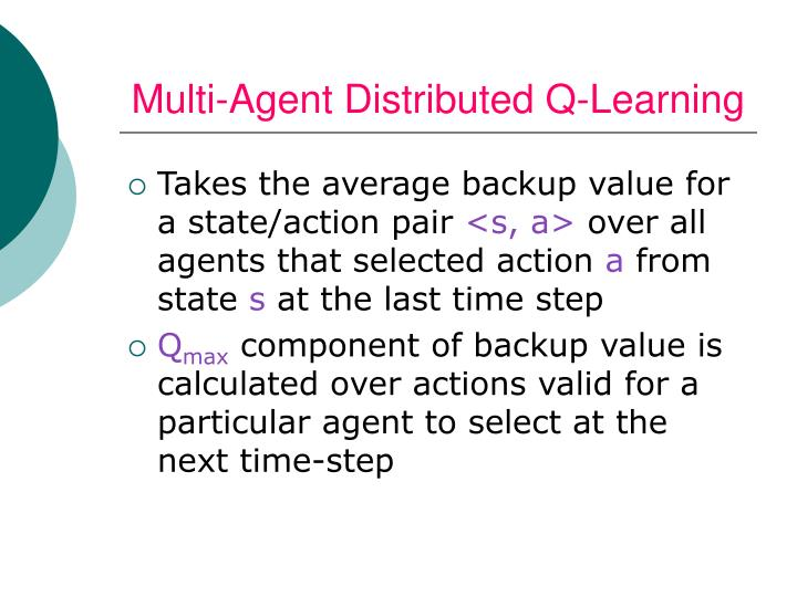 Multi-Agent Distributed Q-Learning